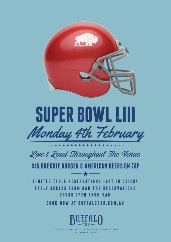 Super Bowl at Buffalo bar